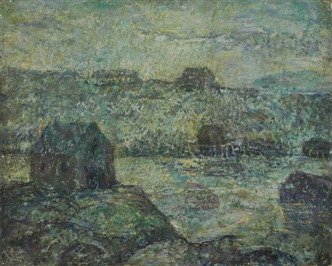 peggy's cove, evening by ernest lawson