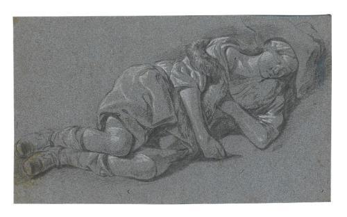 a sleeping shepherd by gerrit adriaensz berckheyde