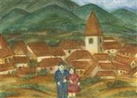 pareja en el valle (double-sided) by fernando botero