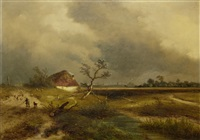the approaching storm by johannes franciscus hoppenbrouwers