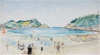 la concha beach, san sebastian by guy seymour warre malet