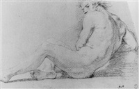 study of a male nude by domenico corvi