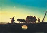 éjjel a pusztán (the hungarian puszta at night) by janos janko