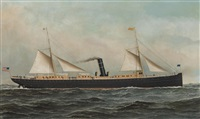 the s.s. oriz at sea by antonio jacobsen
