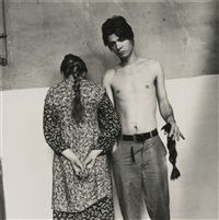 untitled (francesca woodman and benjamin moore, providence, rhode island) by francesca woodman