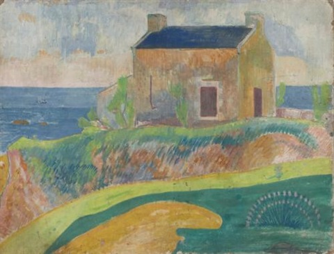 la maison du pendu by paul gauguin