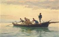 music making on the venetian lagoon by pietro gabrini