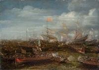 the battle of lepanto by andries van eertvelt