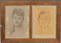 deux portraits de femme by lafage