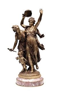 l'allégro bronz statue by jean louis gregoire