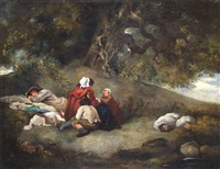resting beneath a tree by george morland