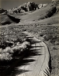 buttermilk country--near bishop, calif (basin peak) by ansel adams