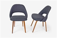 side chairs (pair) by eero saarinen and charles eames