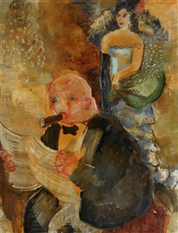 reading the newspaper by annot (anna ottonie) jacobi