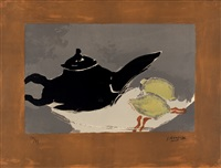 teapot and lemons by georges braque