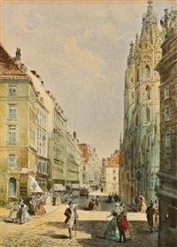 stephansplatz in wien by johann wilhelm frey