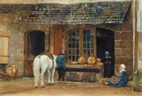a baker's shop, pont-aven, brittany by david maitland armstrong