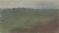 paysage by edgar degas
