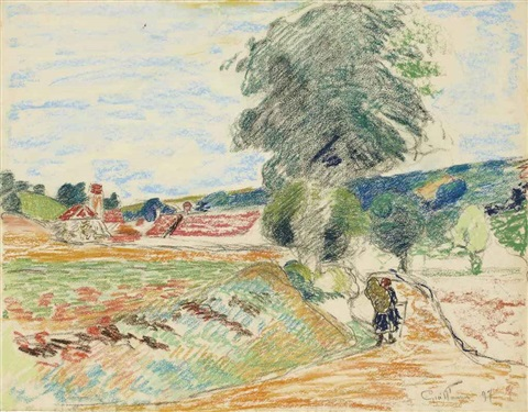paysage dile de france by armand guillaumin
