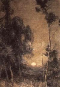 moon rise by augustus fredrick kenderdine