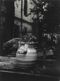window still life with striped vase by josef sudek