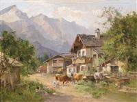 frühling in den alpen by alois heinisch