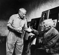 pablo picasso and georges braque by lee miller