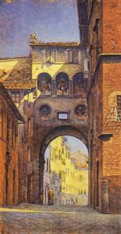 scorcio di siena by romolo ubertalli