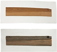 new wood, old wood (set of 2) by ed ruscha