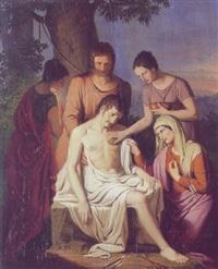 den hellige sebastian får renset sine sår by josef arnold the elder