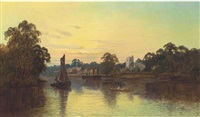 the thames at twickenham by m. allan