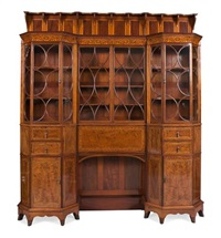 inlaid bookcase cabinet by george washington jack