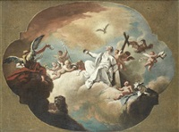 an allegory of the triumph of the word of god, a sketch for a ceiling by giovanni battista crosato