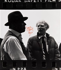 joseph beuys and andy warhol by zoa and joseph beuys