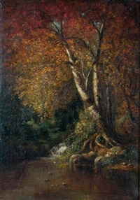 autumn in the woods by thomas addison richards