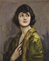 portrait of a lady, bust-length by john hodgson campbell