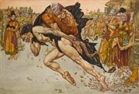 the devil ran away with the gossip by noel laura bush