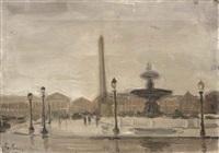 place de la concorde (+ bois de bologne; 2 works) by charles sayers