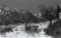 paysage des alpilles by roger humblot