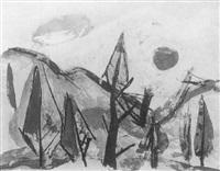 expressive alpenlandschaft by hans ebensperger