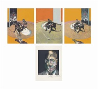 miroir de la tauromachie (set of 4) by francis bacon