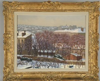 paysage de neige by charles lacoste