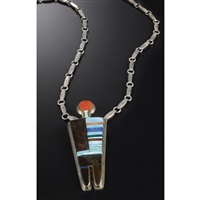 a pendant by charles loloma