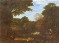an italianate pastoral landscape by richard wilson