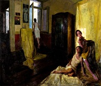 three girls in an interior by rafael baikas