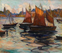 gloucester harbor by fern isabel coppedge