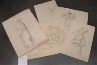 femmes (study) (various sizes; 5 works) by françois joseph navez