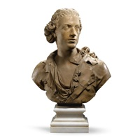 bust of a young man by jean-baptiste boudard