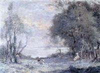 la gardienne de chèvres au bord de la mer by adrien gabriel voisard-margerie