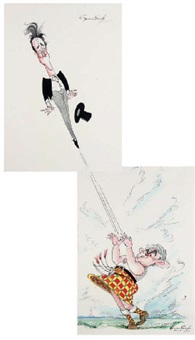 highland fling (+ tossing the tosser; pair) by gerald scarfe